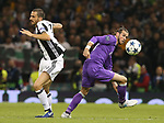 Leonardo Bonucci of Juventus in action with Gareth Bale of Real Madrid during the Champions League Final match at the Millennium Stadium, Cardiff. Picture date: June 3rd, 2017.Picture credit should read: David Klein/Sportimage