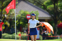 PATTAYA, THAILAND - FEBRUARY 22: Muni He of China on the 14th green during the second round of the Honda LPGA Thailand 2019 at Siam Country Club Pattaya (Old Course), Pattaya, Thailand on February 22, 2019.<br /> .<br /> .<br /> .<br /> (Photo by: Naratip Golf Srisupab/SEALs Sports Images)<br /> .<br /> Any image use must include a mandatory credit line adjacent to the content which should read: Naratip Golf Srisupab/SEALs Sports Images
