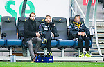 ***BETALBILD***  <br /> Solna 2015-05-10 Fotboll Allsvenskan AIK - IFK Norrk&ouml;ping :  <br /> AIK:s chefstr&auml;nare tr&auml;nare Andreas Alm , assisterande tr&auml;nare Ulf Kristiansson och assisterande tr&auml;nare Nebojsa Novakovic ser fundersamma ut p&aring; avbytarb&auml;nken under matchen mellan AIK och IFK Norrk&ouml;ping <br /> (Foto: Kenta J&ouml;nsson) Nyckelord:  AIK Gnaget Friends Arena Allsvenskan IFK Norrk&ouml;ping tr&auml;nare manager coach fundersam fundera t&auml;nka analysera