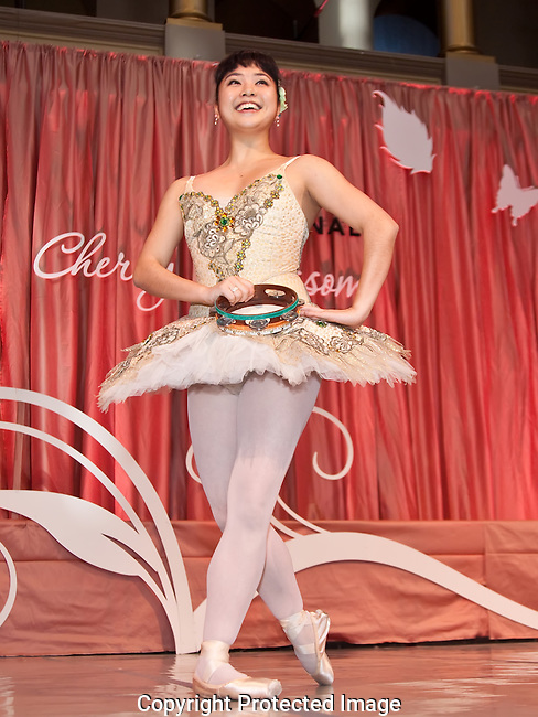 A Ballerina Receives Applause