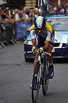 Andreas Kloden (GER) Astana approaches the finish line of Stage 18 of the Tour de France 2009 an individual time trial running 40.5km around Lake Annecy, France. 23rd July 2009 (Photo by Eoin Clarke/NEWSFILE)