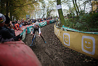 Mathieu Vanderpoel (NLD/BKCP-Powerplus) still only 19 but already challenging the elite champions<br /> <br /> Superprestige Gavere 2014
