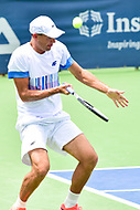 Washington, DC - August 6, 2017: Lukasz Kubot (POL) in action against Henri Kontinen (FIN) and John Peers (AUS) during the Citi Open Doubles Finals at Rock Creek Tennis Center, in Washington D.C. (Photo by Philip Peters/Media Images International)