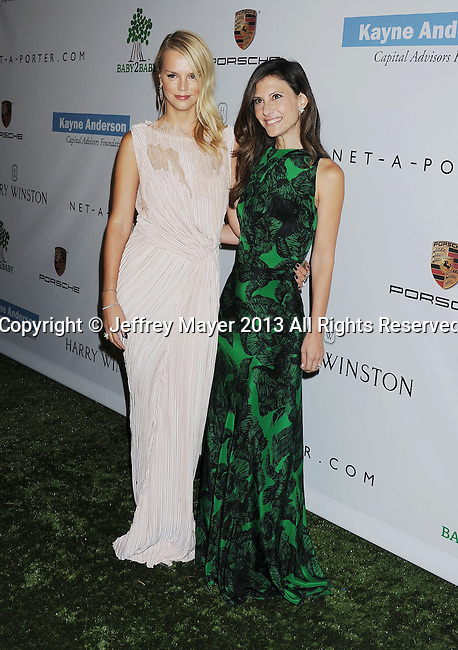 CULVER CITY, CA- NOVEMBER 09: Kelly Sawyer Patricof (L) and Norah Weinstein arrive at the 2nd Annual Baby2Baby Gala at The Book Bindery on November 9, 2013 in Culver City, California.