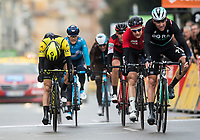 Picture by Alex Broadway/SWpix.com - 11/03/2018 - Cycling - 2018 Paris Nice - Stage Eight - Nice to Nice - A dejected Simon Yates of Mitchelton Scott crosses the line after losing the overall classification by 4 seconds.<br /> <br /> NOTE : FOR EDITORIAL USE ONLY. THIS IS A COPYRIGHT PICTURE OF ASO. A MANDATORY CREDIT IS REQUIRED WHEN USED WITH NO EXCEPTIONS to ASO/Alex Broadway MANDATORY CREDIT/BYLINE : ALEX BROADWAY/ASO