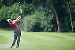 Justin Rose of England hits the ball during Hong Kong Open golf tournament at the Fanling golf course on 23 October 2015 in Hong Kong, China. Photo by Xaume Olleros / Power Sport Images
