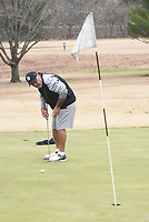 NWA Democrat-Gazette/FLIP PUTTHOFF <br />Farzad Siahmakoun (cq) putts Tuesday Nov. 26 2019 during a game at Kingswood golf course in Bella Vista. A second vote on an assessment increase will be held next month.