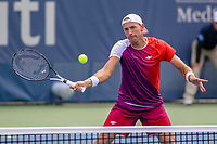 Washington, DC - August 3, 2019:  Lukasz Kubot (POL) attempts to hit the ball during the  Men Doubles semi finals at William H.G. FitzGerald Tennis Center in Washington, DC  August 3, 2019.  (Photo by Elliott Brown/Media Images International)