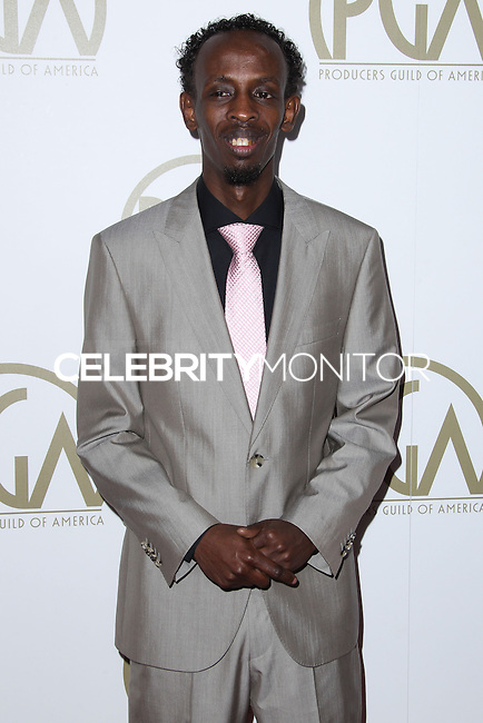 BEVERLY HILLS, CA - JANUARY 19: Barkhad Abdi at the 25th Annual Producers Guild Awards held at The Beverly Hilton Hotel on January 19, 2014 in Beverly Hills, California. (Photo by Xavier Collin/Celebrity Monitor)
