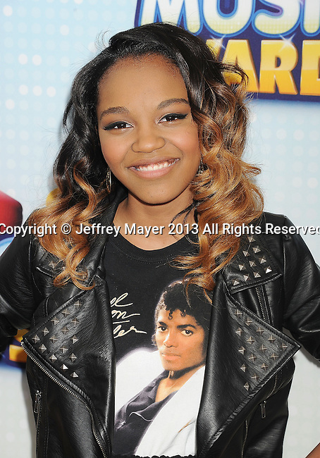 LOS ANGELES, CA- APRIL 27: Actress China Anne McClain arrives at the 2013 Radio Disney Music Awards at Nokia Theatre L.A. Live on April 27, 2013 in Los Angeles, California.