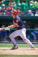 Peoria Chiefs first baseman R.J. Dennard (35) at bat during the first game of a doubleheader against the South Bend Cubs on July 25, 2016 at Four Winds Field in South Bend, Indiana.  South Bend defeated Peoria 9-8.  (Mike Janes/Four Seam Images)