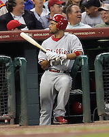 Phillies 3B Pedro Feliz on Friday May 23rd at Minute Maid Park in Houston, Texas. Photo by Andrew Woolley / Four Seam Images.