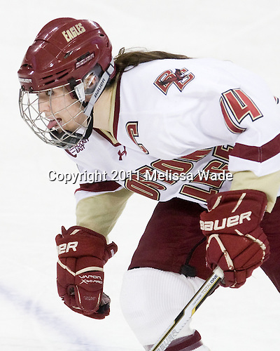 Katelyn Kurth (BC - 14) - The Boston College Eagles defeated the Boston University Terriers 2-1 in the opening round of the Beanpot on Tuesday, February 8, 2011, at Conte Forum in Chestnut Hill, Massachusetts.