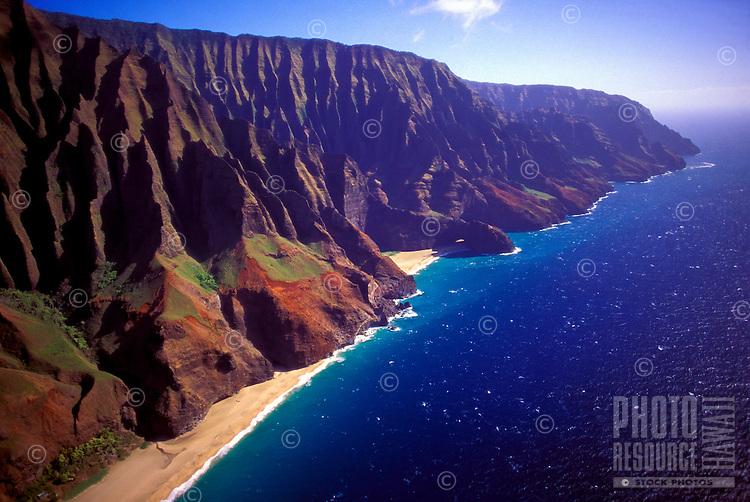 Na Pali coast, aerial, Kauai