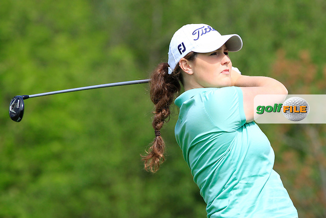 Olivia Mehaffey (RCD Ladies) on the 7th tee during Round 1 of the Irish Women's Open Strokeplay Championship at Dun Laoghaire Golf Club on Saturday 23rd May 2015.<br /> Picture:  Thos Caffrey / www.golffile.ie