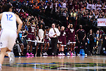 DALLAS, TX - MARCH 31: Head coach Vic Shaefer and the Mississippi State bench cheer  during the 2017 Women's Final Four at American Airlines Center on March 31, 2017 in Dallas, Texas. (Photo by Justin Tafoya/NCAA Photos via Getty Images)