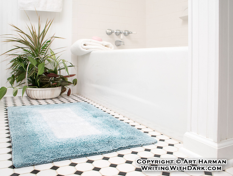 Bath mat staged for sales on Amazon