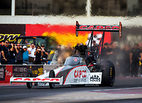 Feb 3, 2017; Chandler, AZ, USA; NHRA top fuel driver Steve Torrence during Nitro Spring Training preseason testing at Wild Horse Pass Motorsports Park. Mandatory Credit: Mark J. Rebilas-USA TODAY Sports