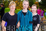 Mary, Shona and Orla Buckley from Castlegreogary taking part in the Kerry Health and Wellbeing Parkrun in the Tralee Town park on Saturday.