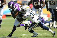 09/11/11 San Diego, CA: Minnesota Vikings wide receiver Michael Jenkins #84 during an NFL game played at Qualcomm Stadium between the San Diego Chargers and the Minnesota Vikings. The Chargers defeated the Vikings 24-17.