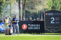 Shane Lowry (IRL) in action during the first round of the Turkish Airlines Open played at the Montgomerie Maxx Royal Golf Club, Belek, Turkey. 07/11/2019<br /> Picture: Golffile | Phil INGLIS<br /> <br /> <br /> All photo usage must carry mandatory copyright credit (© Golffile | Phil INGLIS)