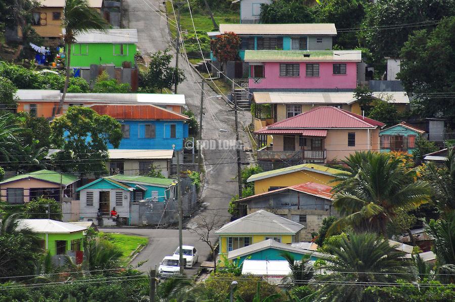 Hillside residential area, Tortola