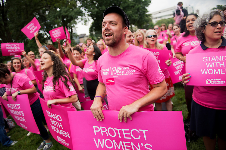 UNITED STATES - JULY 11:  Planned Parenthood Federation of America supporters rally in Upper Senate Park to oppose some states' legislation that they claim limits safe and legal abortion. (Photo By Tom Williams/CQ Roll Call)