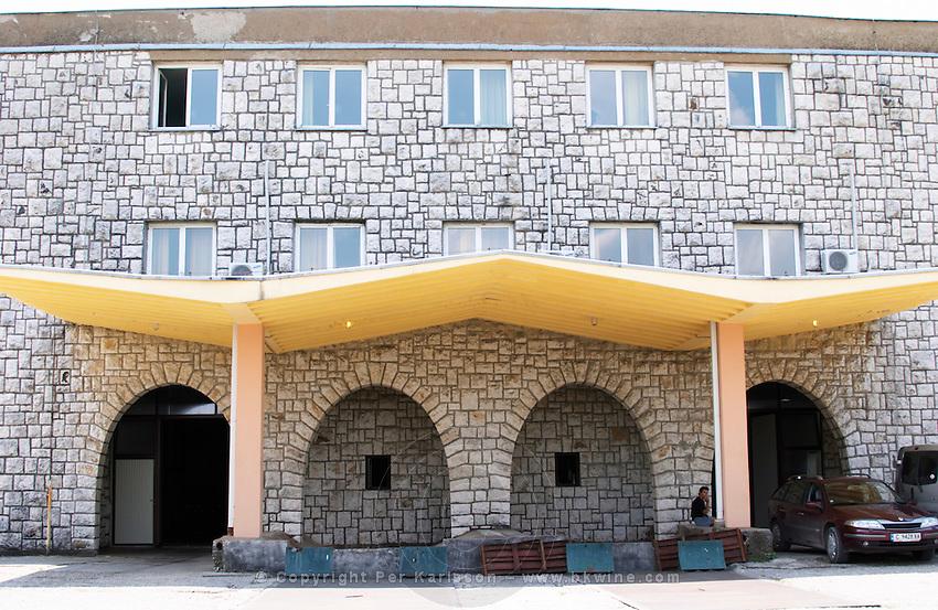 The winery building. Vinarija Citluk winery in Citluk near Mostar, part of Hercegovina Vino, Mostar. Federation Bosne i Hercegovine. Bosnia Herzegovina, Europe.