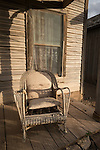Porch and chairs of an old weathered home, Goldfield, Nev.