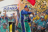 Winner Matt Kenseth (#17) celebrates in Victory Lane.