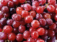 Bunch of Fresh Red Grapes Fruit
