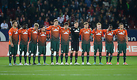FUSSBALL   1. BUNDESLIGA  SAISON 2012/2013   7. Spieltag FC Augsburg - Werder Bremen          05.10.2012 Enttaeuschung von  SV Werder Bremen