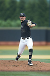 Wake Forest Demon Deacons starting pitcher Morgan McSweeney (35) in action against the Virginia Cavaliers at David F. Couch Ballpark on May 18, 2018 in  Winston-Salem, North Carolina.  The Cavaliers defeated the Demon Deacons 15-3.  (Brian Westerholt/Sports On Film)