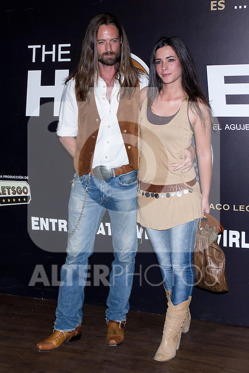 12.09,2012. Celebrities attend the presentation of the new season of  'The Hole' in Theater Caser Calderon of Madrid, with La Terremoto de Alcorcon and Alex O'Dogherty. In the image Willian Miller and Maria Cotiello (Alterphotos/Marta Gonzalez)