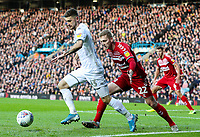 Leeds United's Mateusz Klich shields the ball from Middlesbrough's George Saville<br /> <br /> Photographer Alex Dodd/CameraSport<br /> <br /> The EFL Sky Bet Championship - Leeds United v Middlesbrough - Saturday 30th November 2019 - Elland Road - Leeds<br /> <br /> World Copyright © 2019 CameraSport. All rights reserved. 43 Linden Ave. Countesthorpe. Leicester. England. LE8 5PG - Tel: +44 (0) 116 277 4147 - admin@camerasport.com - www.camerasport.com