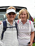 Mary Sinton and Marion Carpenter who took part in the Fr Willie Cleary memorial walk from Oldbridge House to the Hill of Slane. Photo:Colin Bell/pressphotos.ie