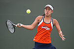 April 23, 2015; San Diego, CA, USA; Pepperdine Waves tennis player Lorraine Guillermo during the WCC Tennis Championships at Barnes Tennis Center.