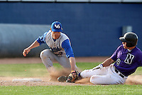April 14, 2010:  Third Baseman Alex Baldock of the Buffalo Bulls during a game at Sal Maglie Stadium in Niagara Falls, NY.  Photo By Mike Janes/Four Seam Images
