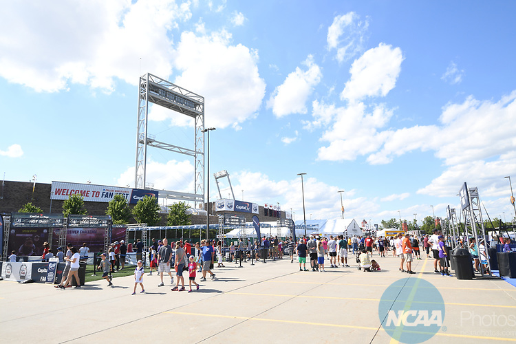 OMAHA, NE - JUNE 26: Fans enjoy the College World Series Fan Fest before Louisiana State University takes on the University of Florida during the Division I Men's Baseball Championship held at TD Ameritrade Park on June 26, 2017 in Omaha, Nebraska. The University of Florida defeated Louisiana State University 4-3 in game one of the best of three series. (Photo by Justin Tafoya/NCAA Photos via Getty Images)