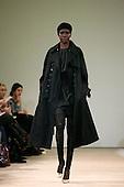 February 2009 - London Fashion Week, Aquascutum showing Autumn/Winter collection with Alek Wek modelling.