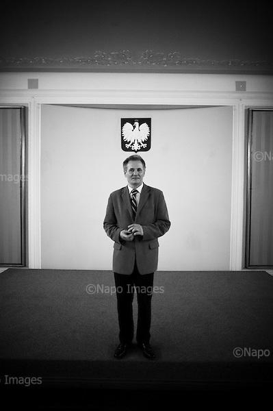 Warsaw, 04 February 2009, Poland<br /> Zbigniew Bujak was an electrician and foreman in 1980 at the Ursus tractor factory near Warsaw. He became engaged with trade union activists, and during the strike action, he organized strike committees at the Ursus factory. He also held the position of chairman of Main Tariff's Office<br /> (Filip Cwik / Napo Images for Newsweek Poland)<br /> <br /> Warszawa 04 luty 2009 Polska<br /> Zbigniew Bujak - w 1980 wspolzalozyciel ursuskiego Robotniczego Komitetu Solidarnosci ze strajkujacymi na wybrzezu. W 1989 uczestnik poufnych rozmow z przedstawicielami komunistycznej wladzy w Magdalence k. Warszawy. Uczestnik obrad Okraglego Stolu. Wspolzalozyciel spolki Agora wydajacej Gazete Wyborcza. 1990-1991 prezes Fundacji im. Stefana Batorego.1999-2001 szef Glownego Urzedu Cel.<br /> (Filip Cwik / Napo Images dla Newsweek Polska)