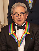 Conductor Michael Tilson Thomas, one of the recipients of the 42nd Annual Kennedy Center Honors poses as part of a group photo following a dinner at the United States Department of State in Washington, D.C. on Saturday, December 7, 2019.  The 2019 honorees are: Earth, Wind & Fire, Sally Field, Linda Ronstadt, Sesame Street, and Michael Tilson Thomas.<br /> Credit: Ron Sachs / Pool via CNP