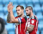 Sheffield United's Billy Sharp celebrates at the final whistle during the League One match at the Priestfield Stadium, Gillingham. Picture date: September 4th, 2016. Pic David Klein/Sportimage