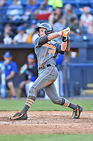 Tennessee Volunteers catcher Sean Skelly (44) swings at a pitch during a game against the UNC Asheville Bulldogs at McCormick Field on March 15, 2016 in Asheville, North Carolina. The Volunteers defeated the Bull Dogs 7-3. (Tony Farlow/Four Seam Images)