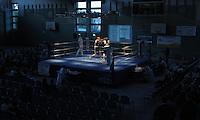 Boxen in Delitzsch, Ostdeutsche Meisterschaft und Rosenpokal im Kultur- und Sportzentrum.   im Bild: Boxkampf im KSZ. .Foto: Alexander Bley