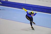 SCHAATSEN: HEERENVEEN: Thialf, 4th Masters International Speed Skating Sprint Games, 25-02-2012, Gavrilova Anzhelika (F30) 1st, ©foto: Martin de Jong