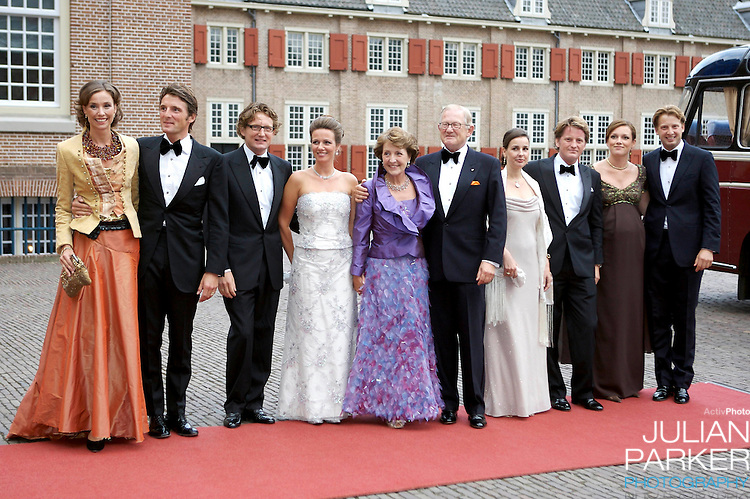 Princess Margriet of Holland and husband Pieter van Vollenhoven and Family, arrive  for a Reception at Het Loo Palace in Apeldoorn, to celebrate the 40th Birthday of Crown Prince Willem Alexander, The Prince turned forty in April earlier this year.