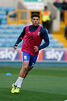 Che Adams of Birmingham City warms up during the Sky Bet Championship match between Millwall and Birmingham City at The Den, London, England on 21 October 2017. Photo by Carlton Myrie.