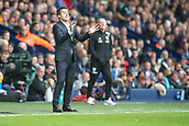 30th September 2017, The Hawthorns, West Bromwich, England; EPL Premier League football, West Bromwich Albion versus Watford; Marco Silva the Watford manager shouts instructions