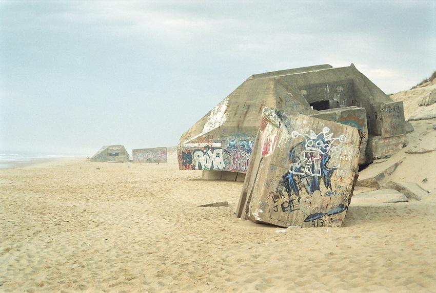 Cap Ferret, Bordeaux, Beach Blockhaus Alemands, German Block Houses